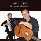 """CD-Cover Maik Göpel """"Lieder wie du und ich"""""""